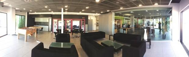 Sala de descanso de la sede de Eboca Vending