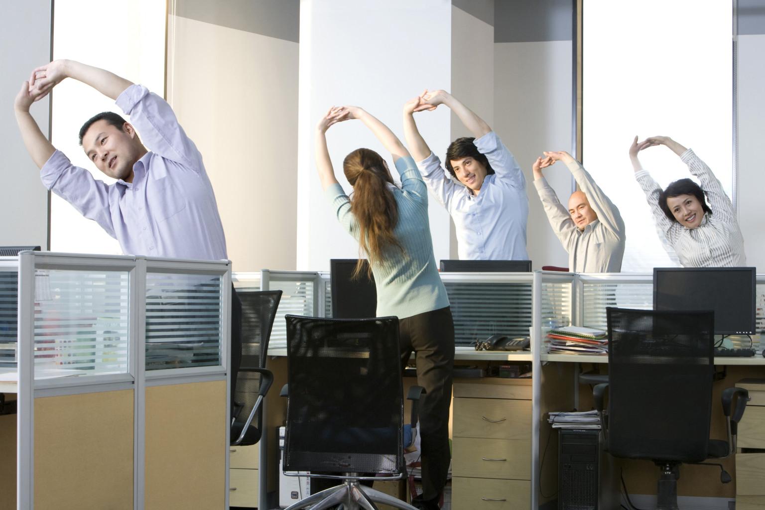 Ejercicios para la oficina ebocame for Ejercicios en la oficina